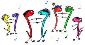 Tanzende PRIMUSONA-Noten